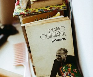 book, vintage, and mario quintana image