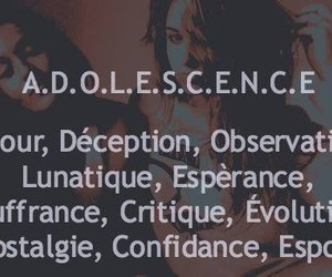 adolescence, sentence, and phrase image