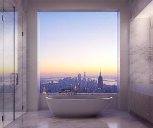 bathroom, city, and bath image