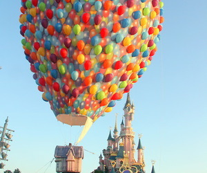 balloons, disney, and up image