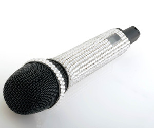 glitter, microphone, and white image