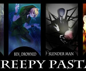 jeff the killer, ben drowned, and slenderman image