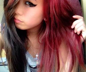 alt girl, body mods, and dyed hair image
