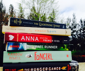 books, percy jackson, and fangirl image
