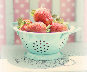 pastel, strawberry, and pink image