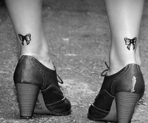black shoes, shoes, and girly tattoos image