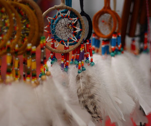 feather, dream catcher, and dreamcatcher image