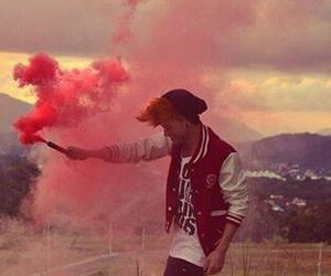 boy, red, and smoke image