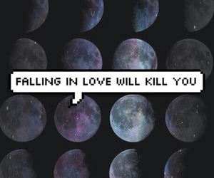 love, kill, and moon image