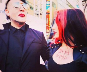 Marilyn Manson and ash costello image