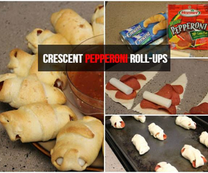 diy, pizza rolls, and food image