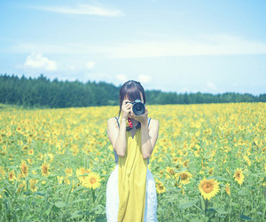 flower, girl, and photography image