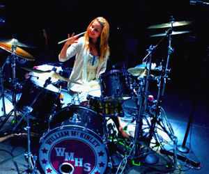 drum, glee, and dianna agron image
