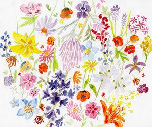 art, pattern, and watercolor image