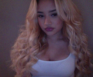 big lips, blonde, and curly image