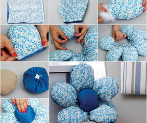 diy, flowers, and pillow image