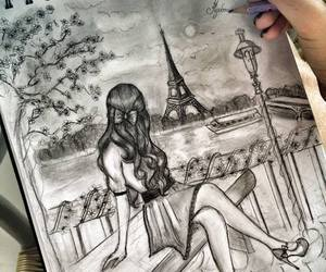 paris, drawing, and art image