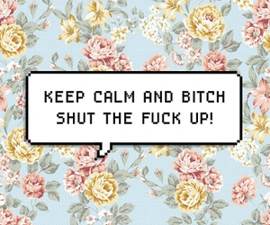 background, floral, and keep calm image