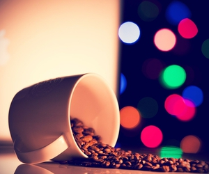 coffee, colours, and coffeebeans image