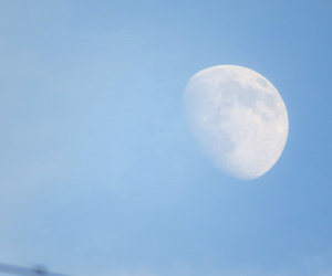 beautiful, blue, and moon image