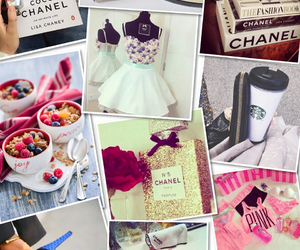 books, chanel, and Collage image