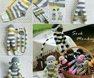 diy, monkey, and socks image