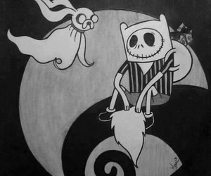 b&w, cool, and adventure time image