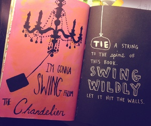 chandelier, wreck this journal, and art image