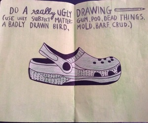 art, croc, and drawing image