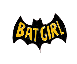 batgirl, batman, and overlay image