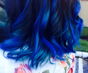 awesome, blue, and curls image