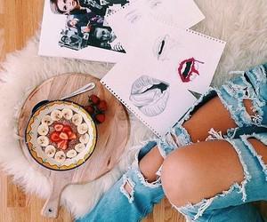fashion, food, and drawing image
