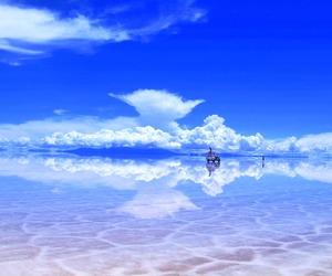 blue, sky, and salar de uyuni image