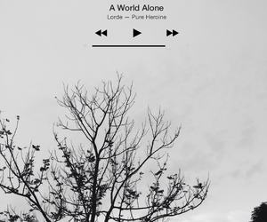 alone, blackandwhite, and lonely image