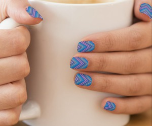 blue, chevron, and colorful image