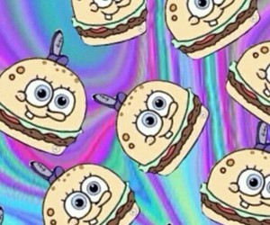 food, hamburguer, and spongebob image