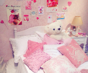 room, cute, and pink image