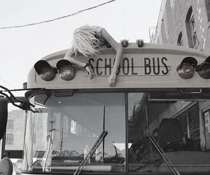 school, bus, and sky ferreira image