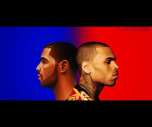 blue, red, and drizzy image