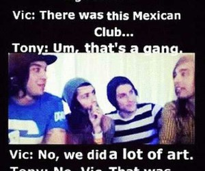 pierce the veil, vic fuentes, and tony perry image