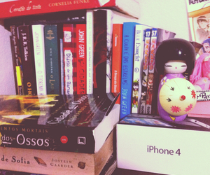 books, hobbit, and iphone image