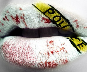 lips, police, and white image