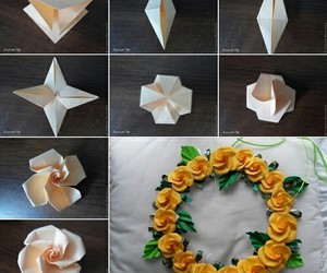 diy, flowers, and origami image