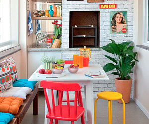 kitchen, decor, and colorful image