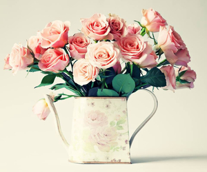 romantic, flowers, and pink image