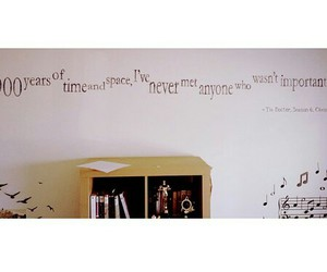 doctor who, quote, and wall art image