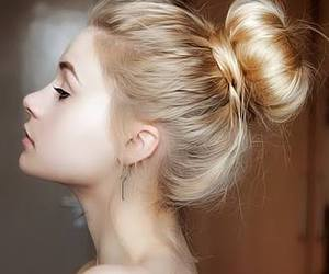 beautiful, bun, and style image