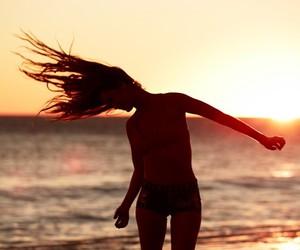 beach, free, and sunset image