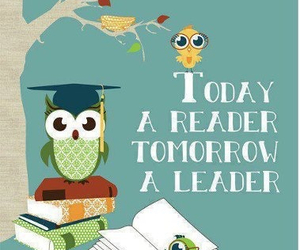 books, reader, and leader image