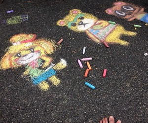 animal crossing, chalk, and ac3ds image